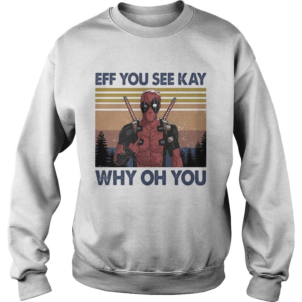 Spiderman eff you see kay why oh you vintage  Sweatshirt