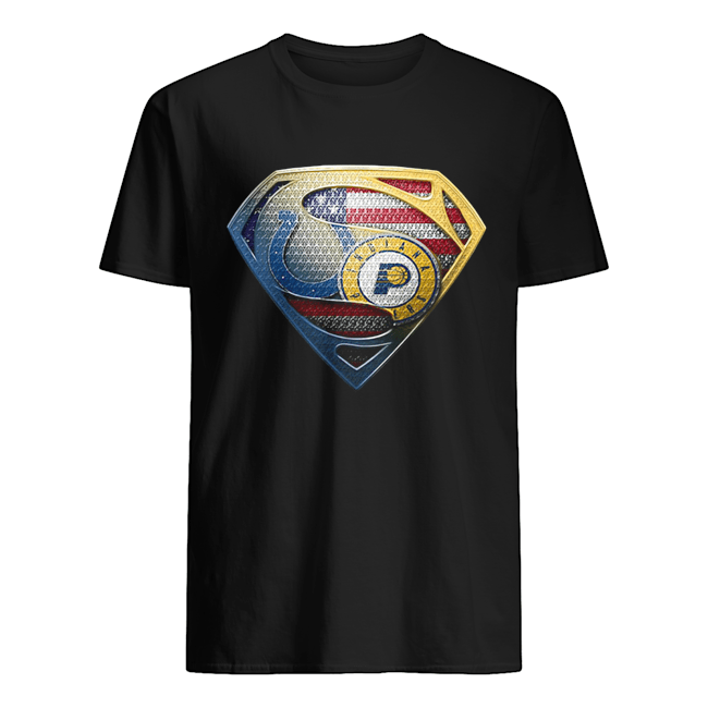 Superman boise state and indiana pacers american flag independence day  Classic Men's T-shirt