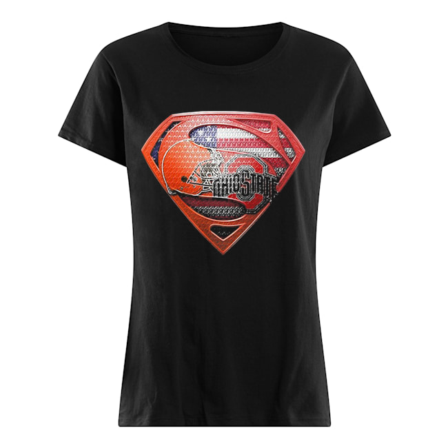 Superman cleveland browns and cleveland indians american flag independence day  Classic Women's T-shirt