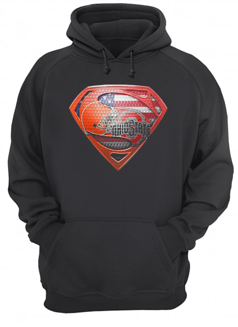 Superman cleveland browns and cleveland indians american flag independence day  Unisex Hoodie