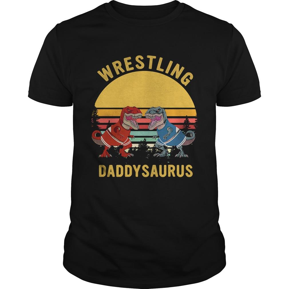 Trex wrestling daddysaurus vintage  Unisex