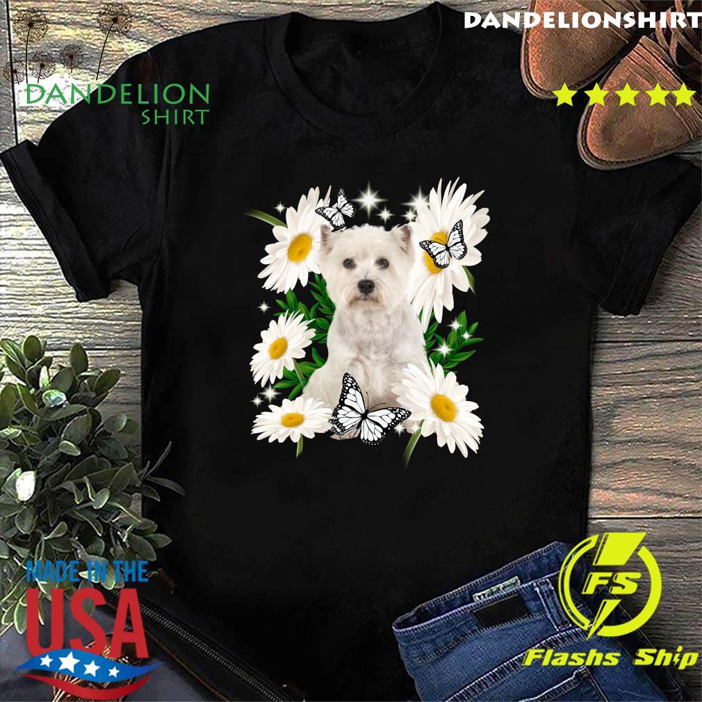 Westie Daisy flower Classic T-Shirt