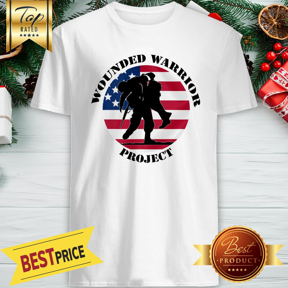 Wounded Warrior Project American USA Flag Shirt