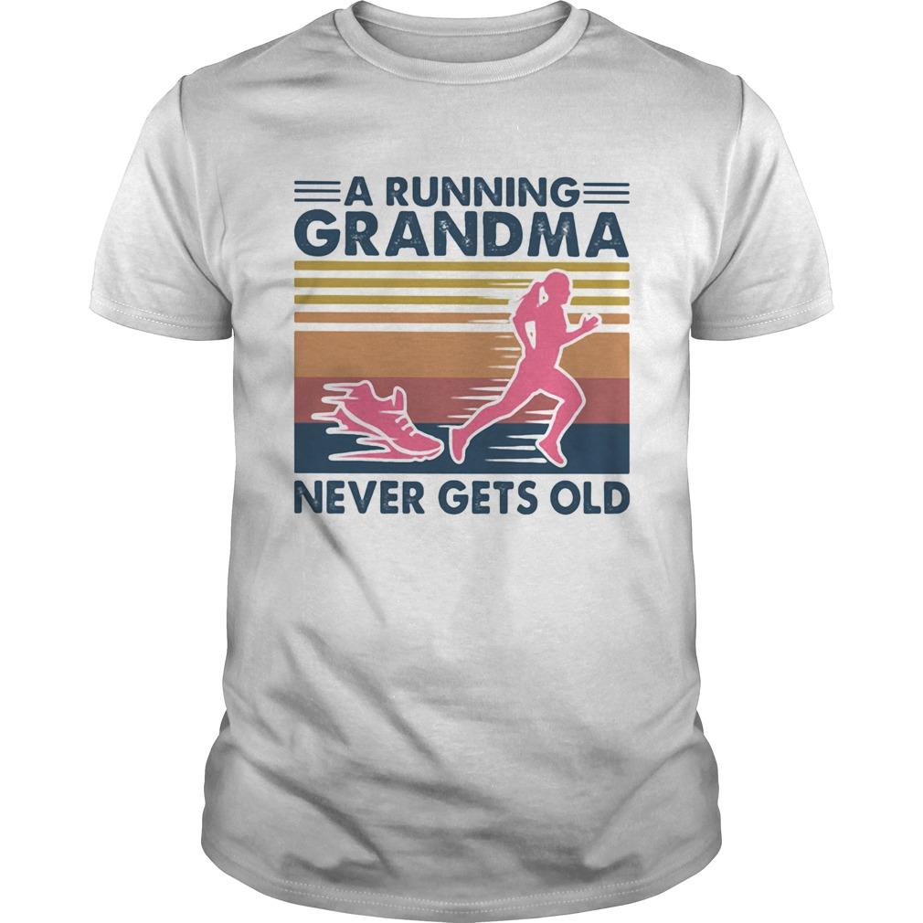 A running grandma never gets old vintage retro  Unisex