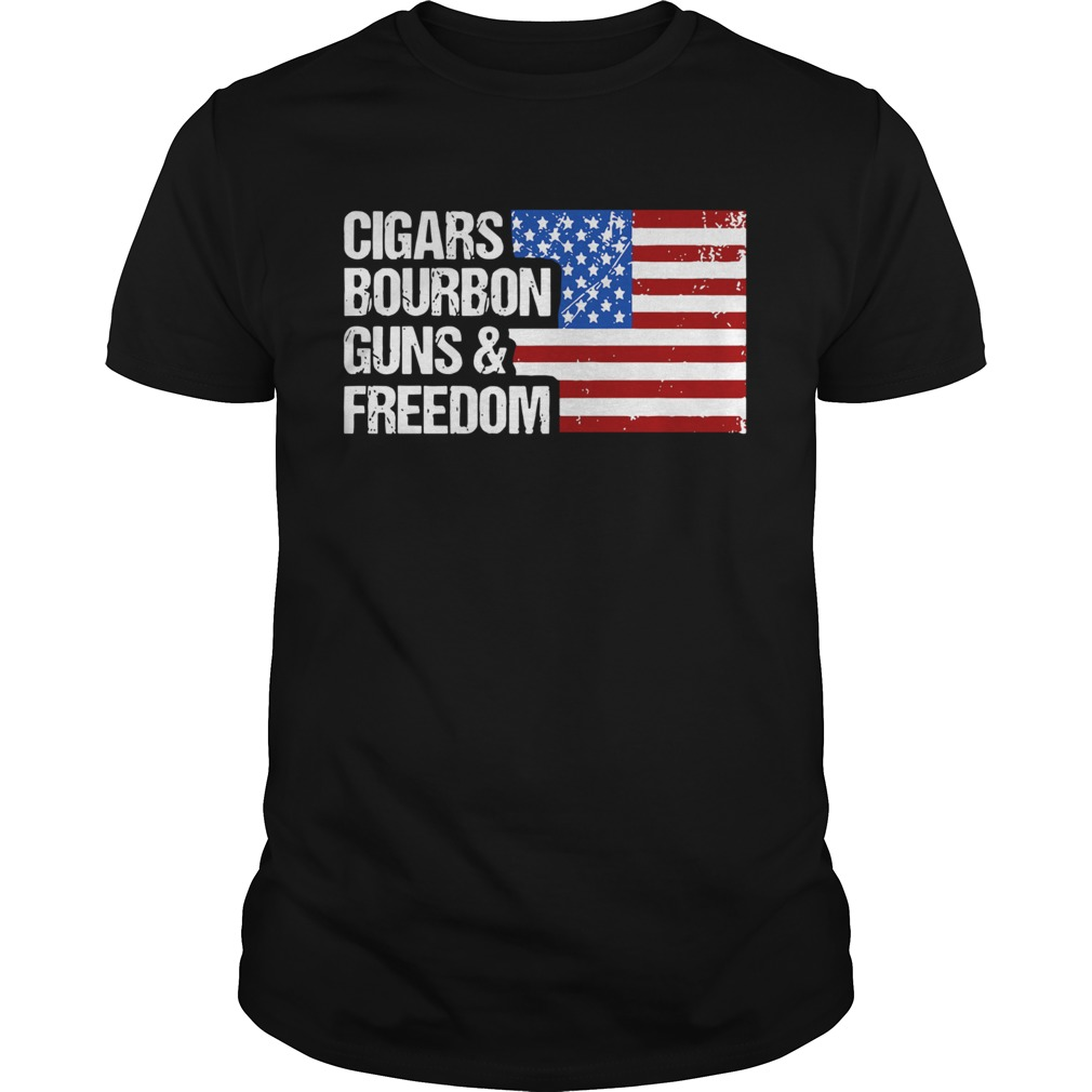American Flag Cigars Bourbon Guns And Freedom  Unisex