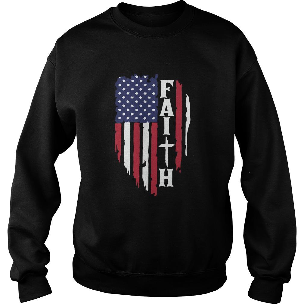 American Flag Faith  Sweatshirt