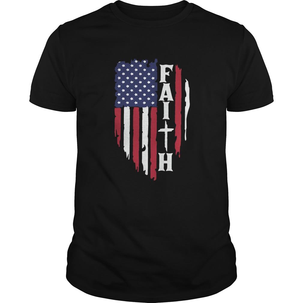 American Flag Faith  Unisex