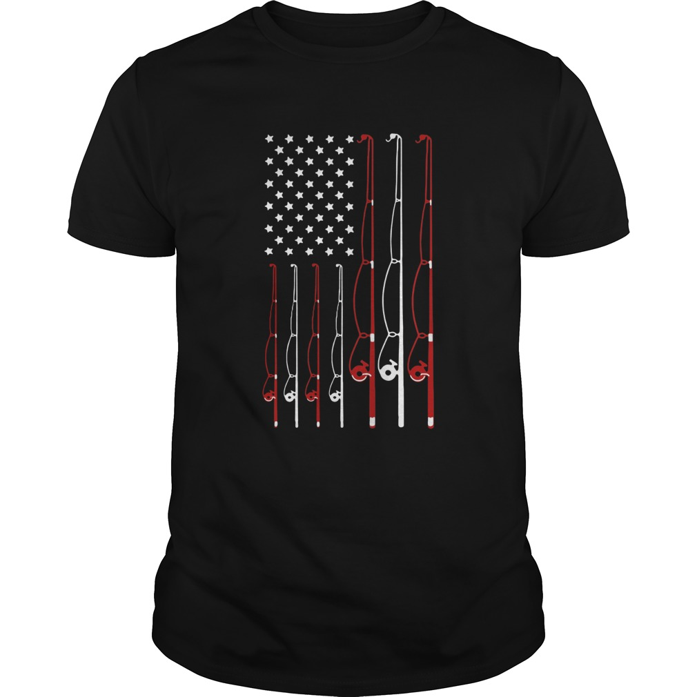 American Flag Fishing Rod  Unisex