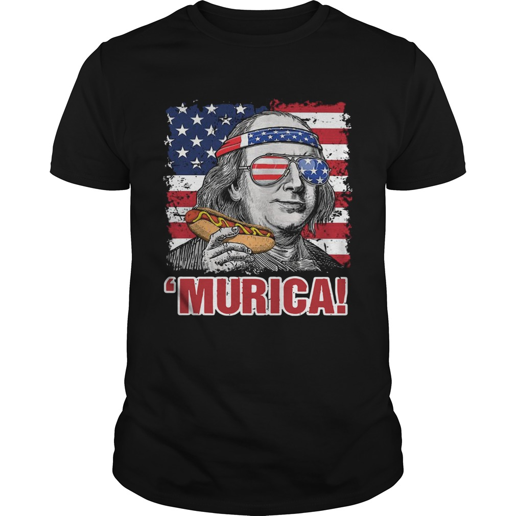 Benjamin Franklin Murica Happy The 4th Of July American Flag  Unisex