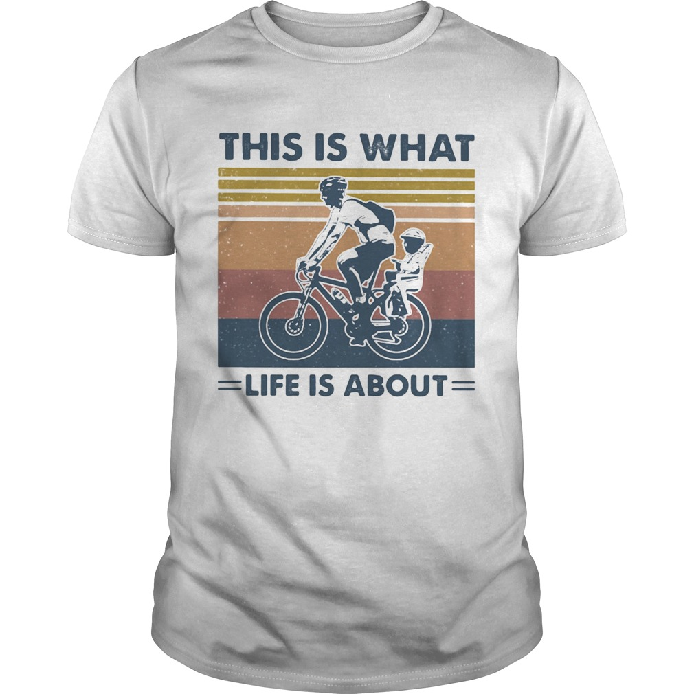 Bicycle this is what life is about vintage retro  Unisex