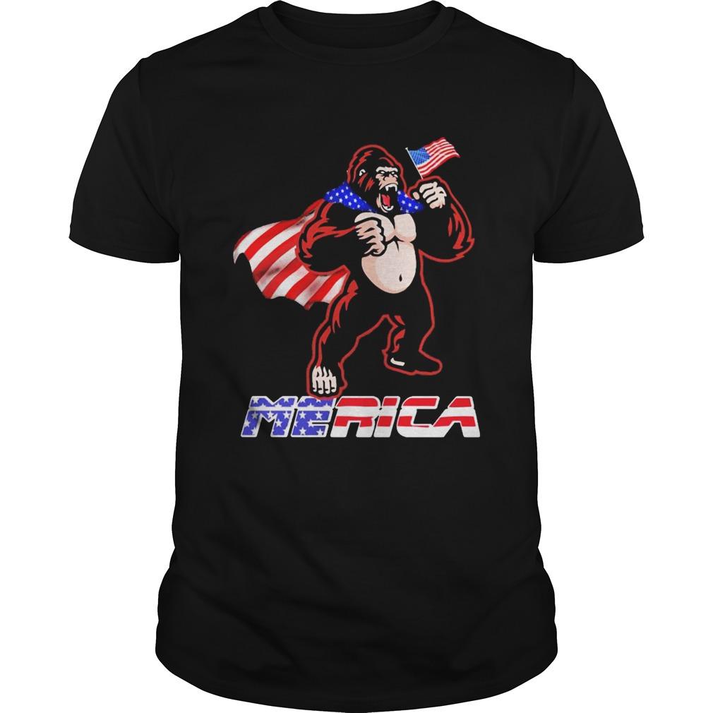 Bigfoot Happy The 4th Of July America  Unisex