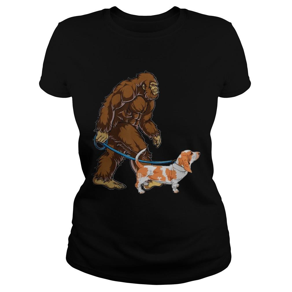 Bigfoot Sasquatch Walking Basset  Classic Ladies