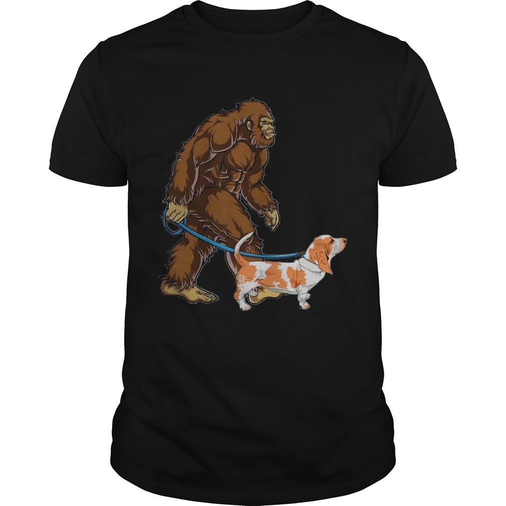 Bigfoot Sasquatch Walking Basset  Unisex