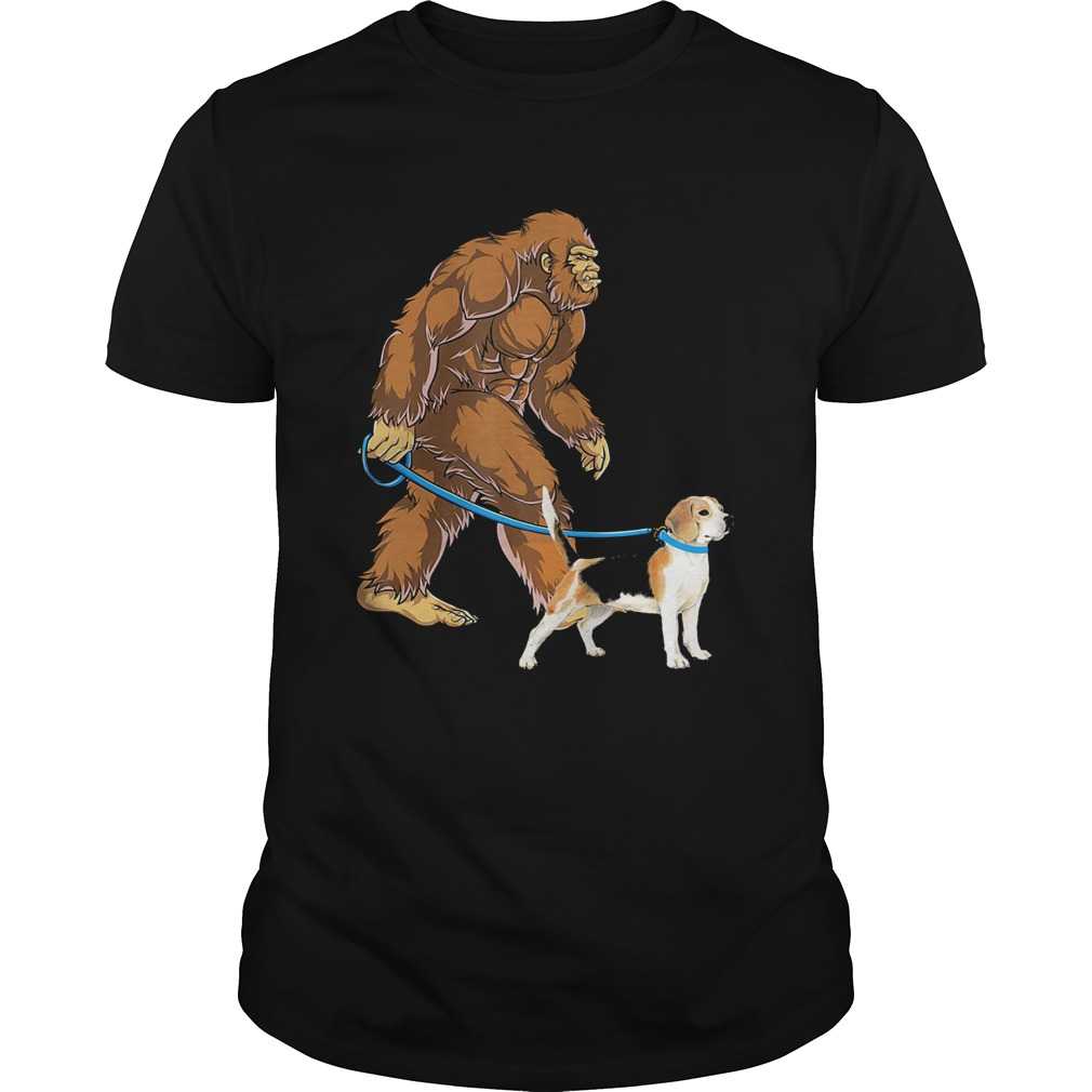 Bigfoot Sasquatch Walking Beagle  Unisex