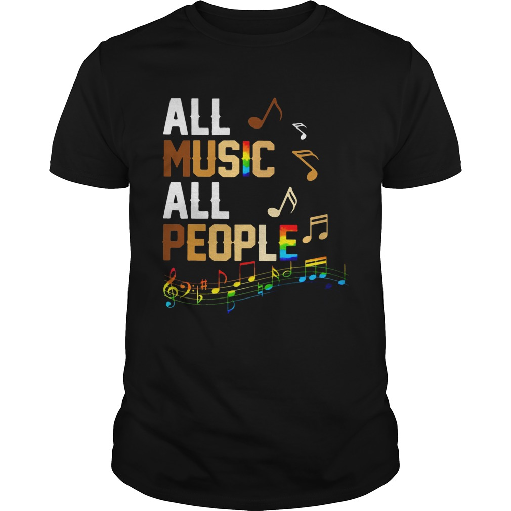 Black Lives Matter All Music All People Unisex