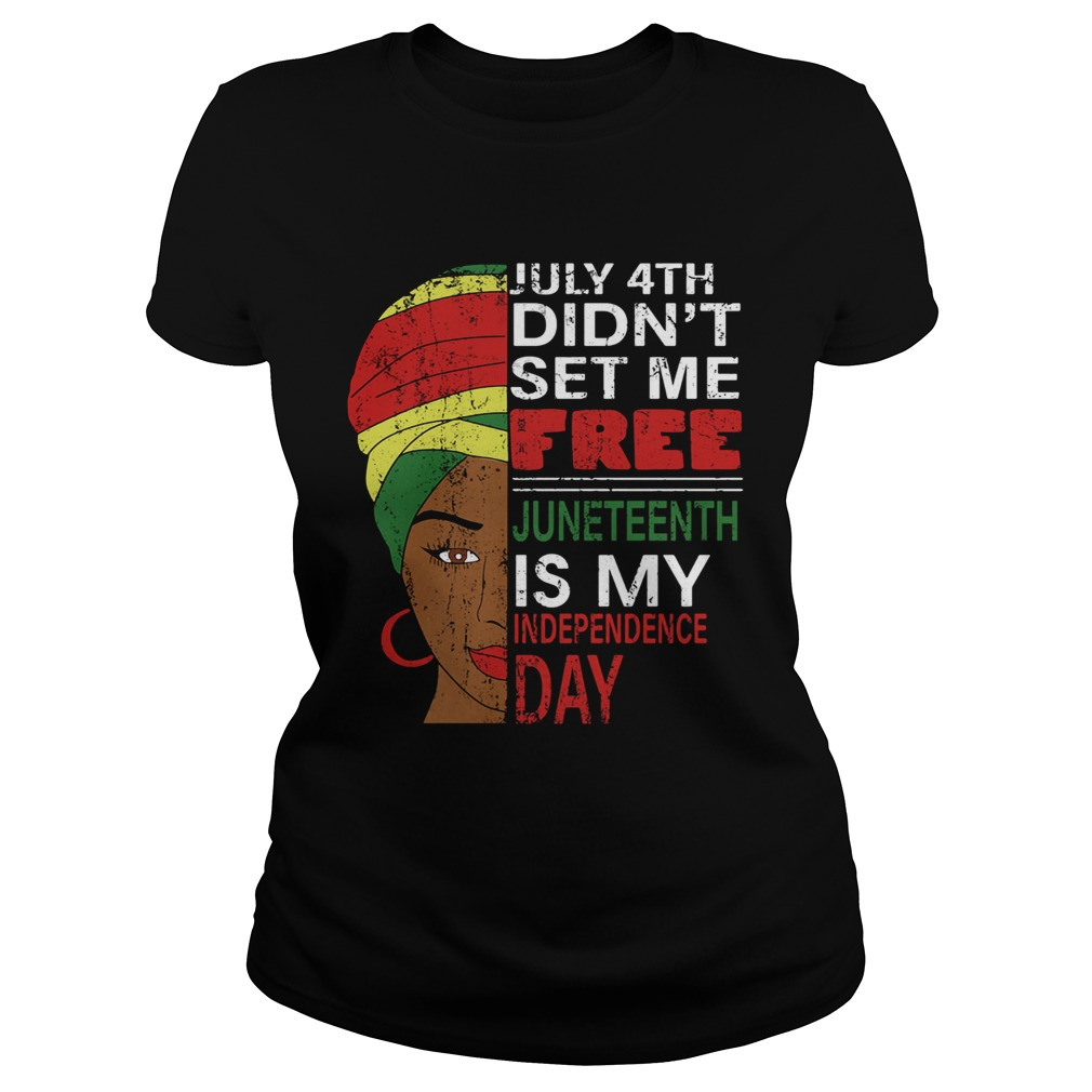 Womens Happy Juneteenth Day T Shirts Short Sleeve Crew Neck Graphic Casual Top