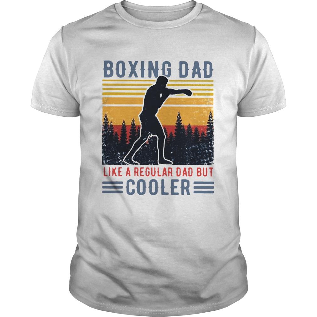 Boxing Dad Like A Regular Dad But Cooler Vintage  Unisex
