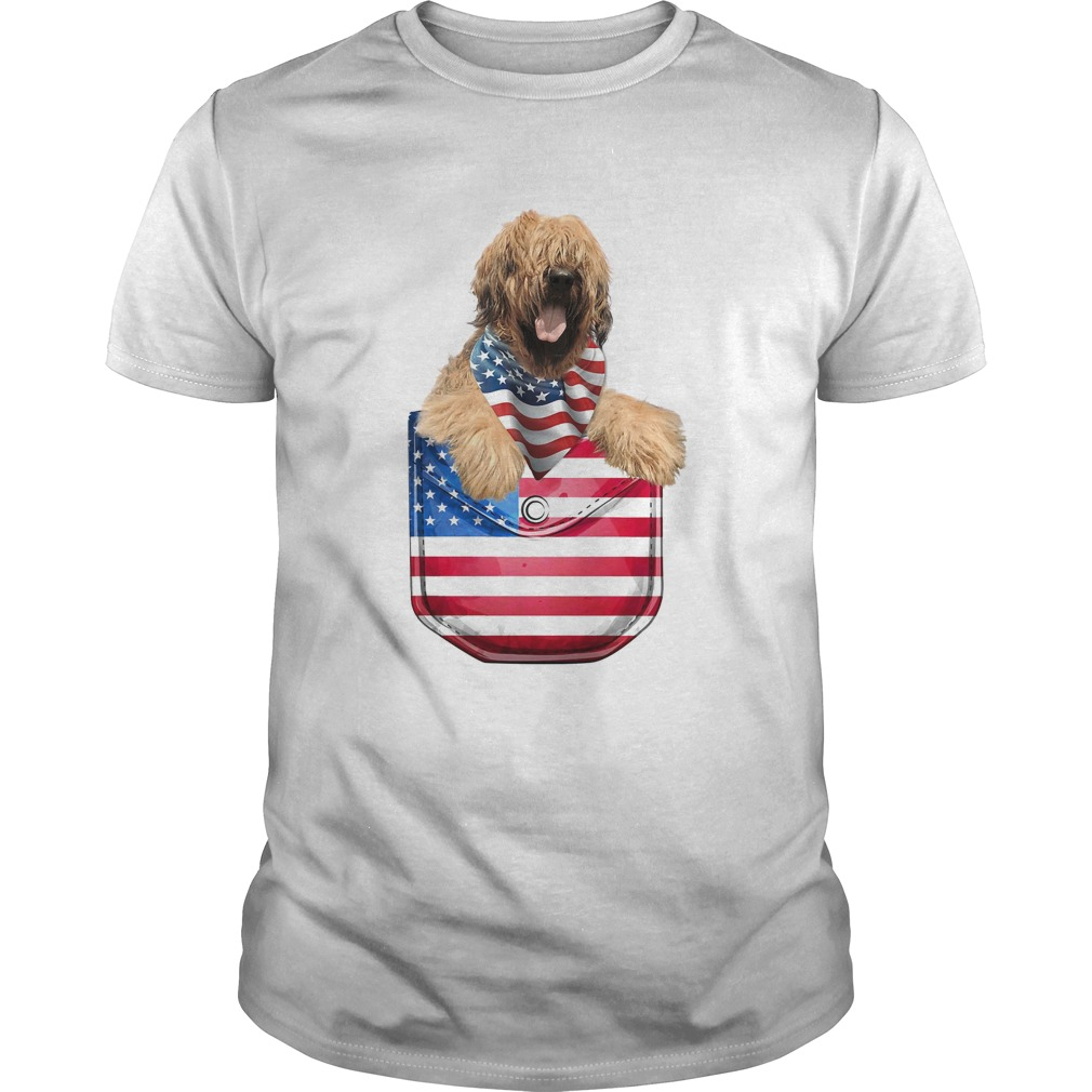 Briard pocket american flag independence day  Unisex