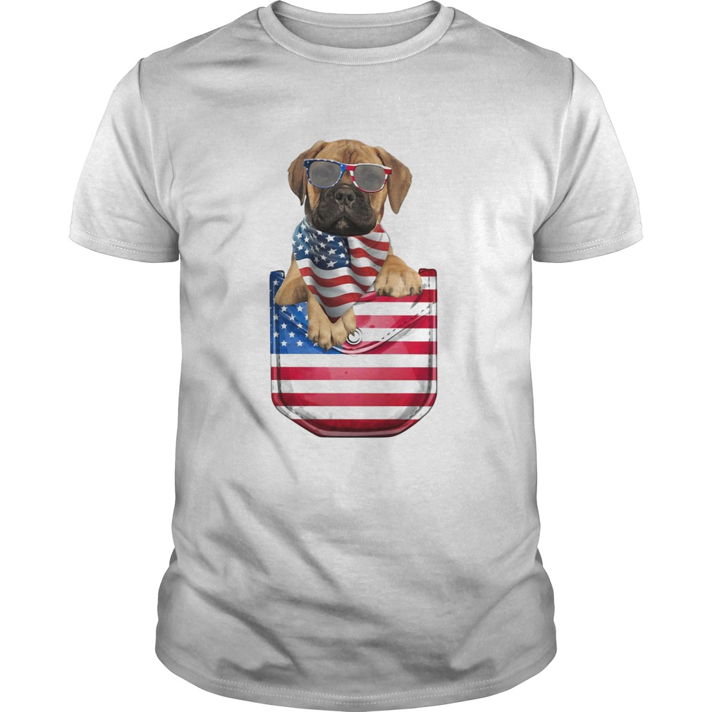 Bullmastiff pocket american flag independence day  Unisex