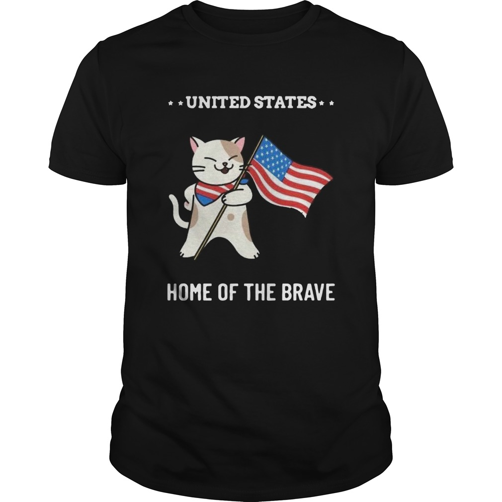 Cat United States Home Of The Brave  Unisex