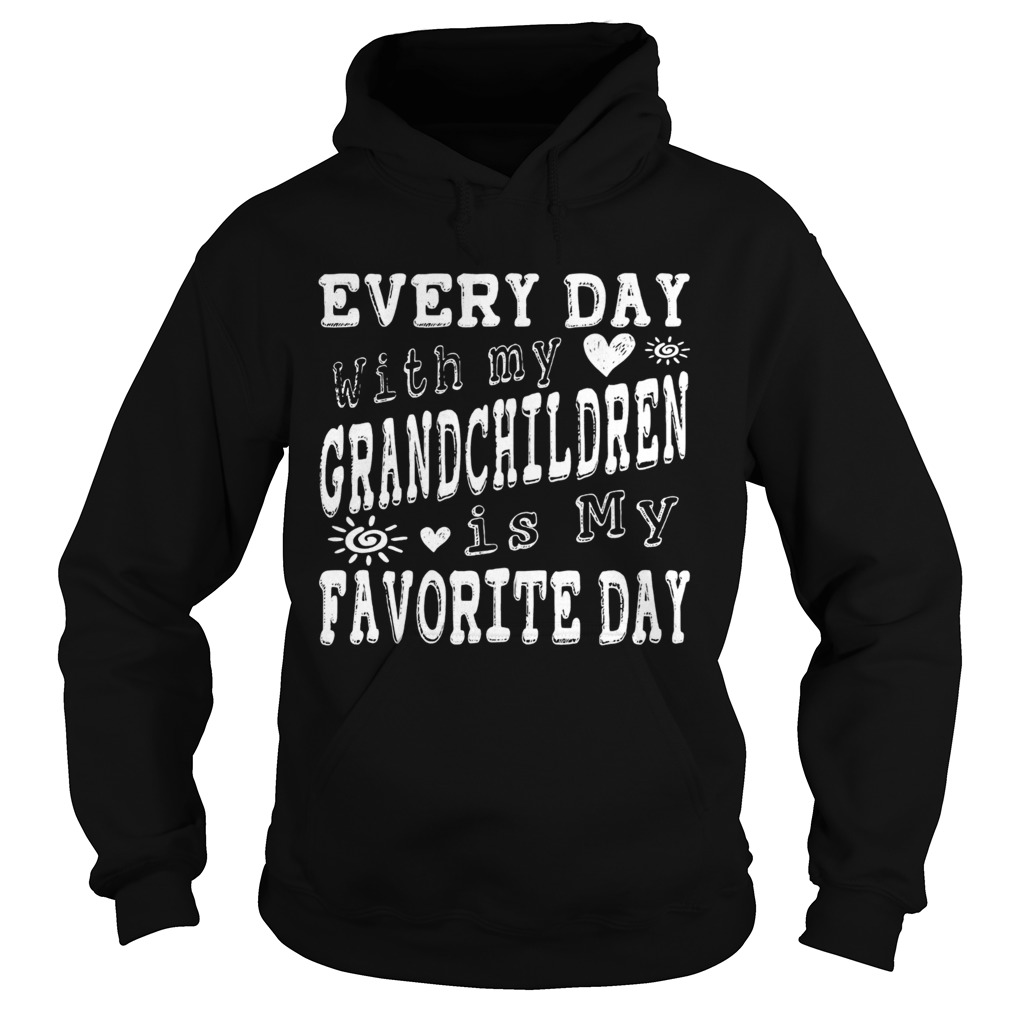 Every Day With My Grandchildren Is My Favorite Day Vintage  Hoodie