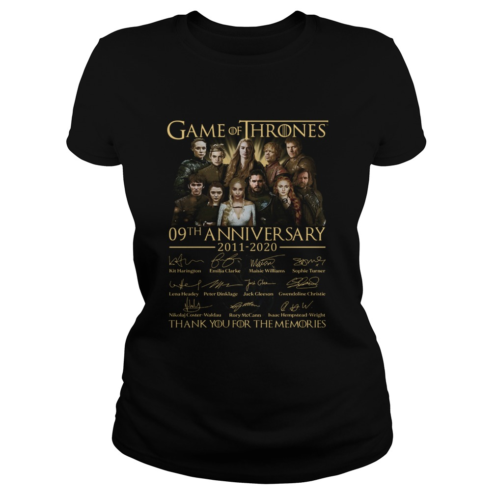 Game Of Thrones 09th Anniversary 20112020 Thank You For The Memories  Classic Ladies