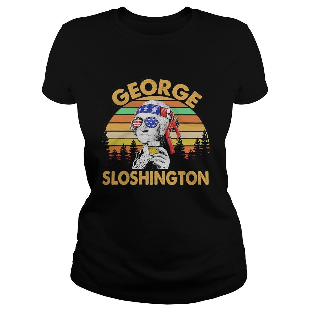 George drinking wine sloshington american flag vintage retro  Classic Ladies