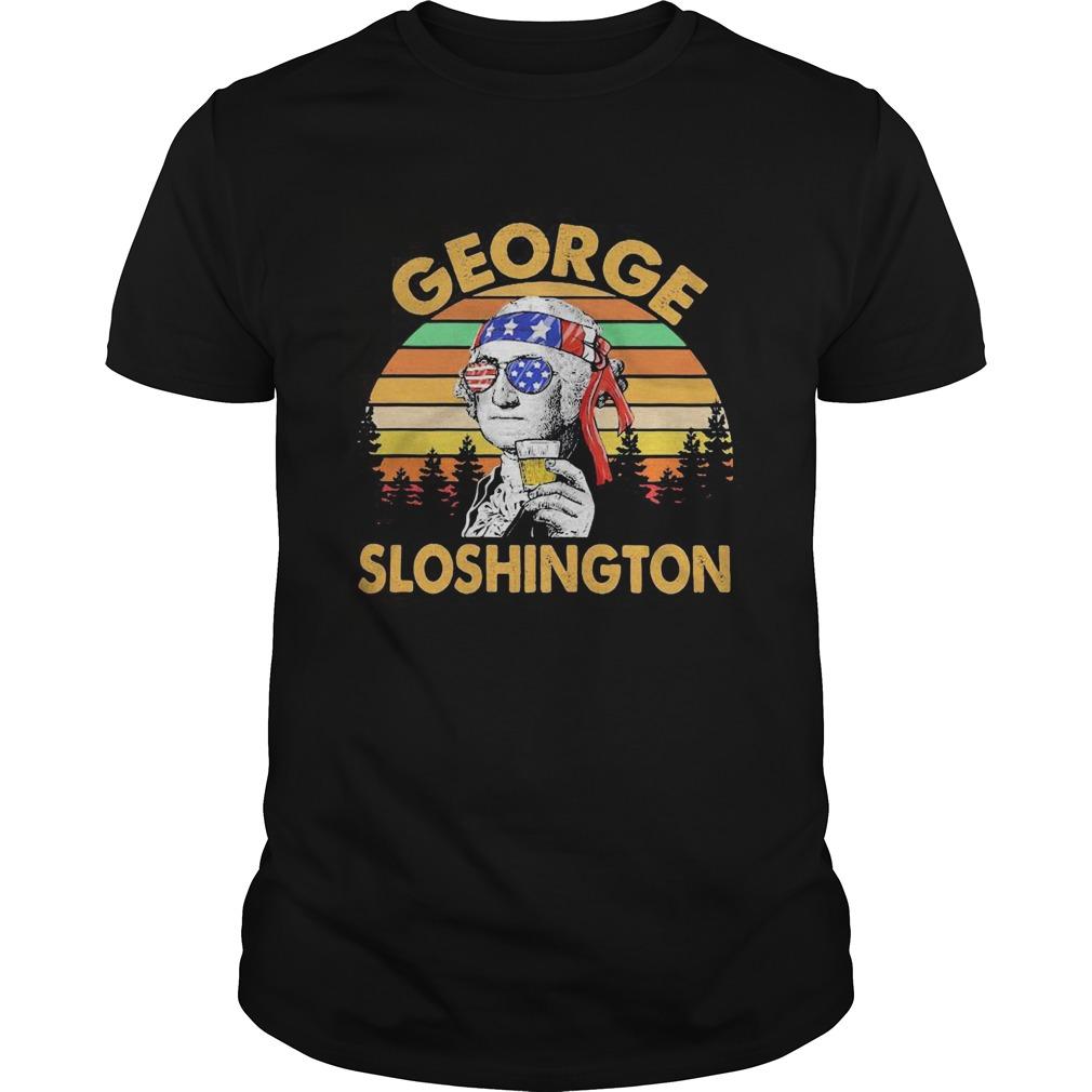 George drinking wine sloshington american flag vintage retro  Unisex
