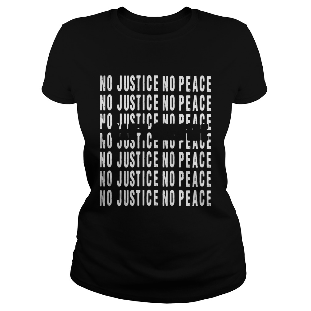 George Floyd I cant breathe no justice no peace  Classic Ladies