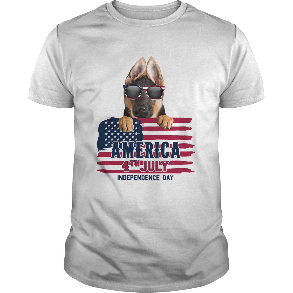 German shepherd 4th july independence day american flag  Unisex
