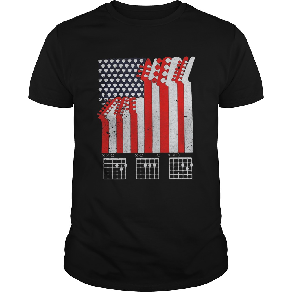 Guitar dad american flag independence day  Unisex