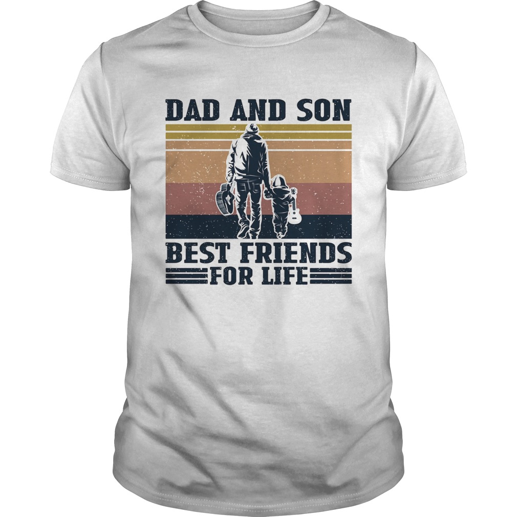 Guitar dad and son guitar best friends vintage  Unisex