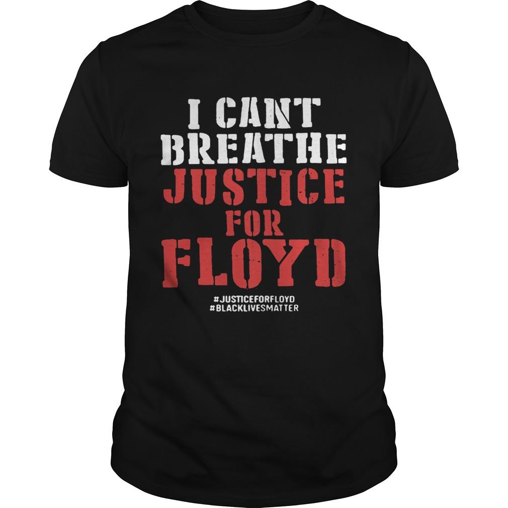 I cant breathe justice for george floyd black lives matter black  Unisex