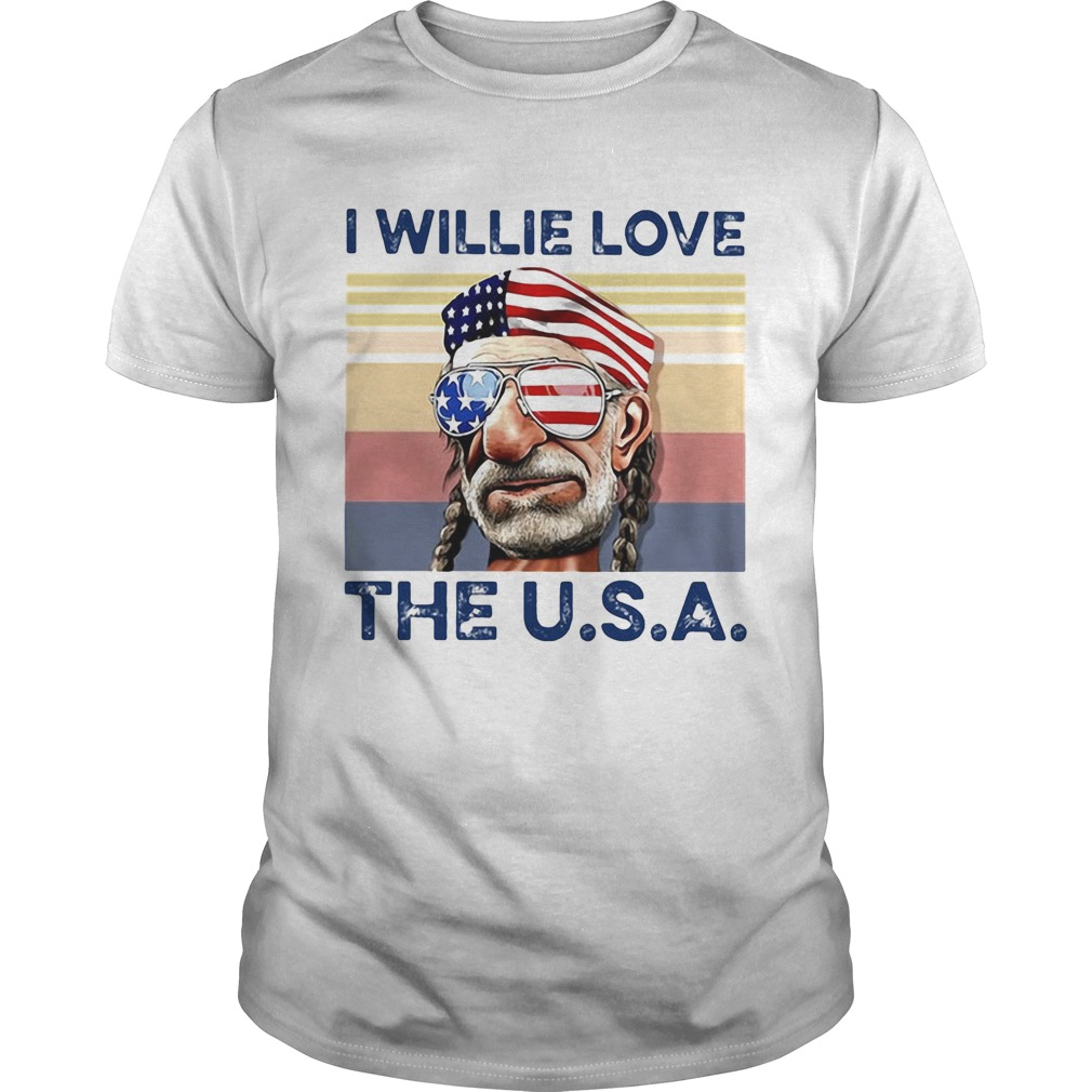 I willie friggin love the usa flag independence day vintage retro  Unisex