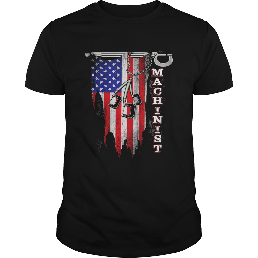 Independence Day flag american machinist  Unisex