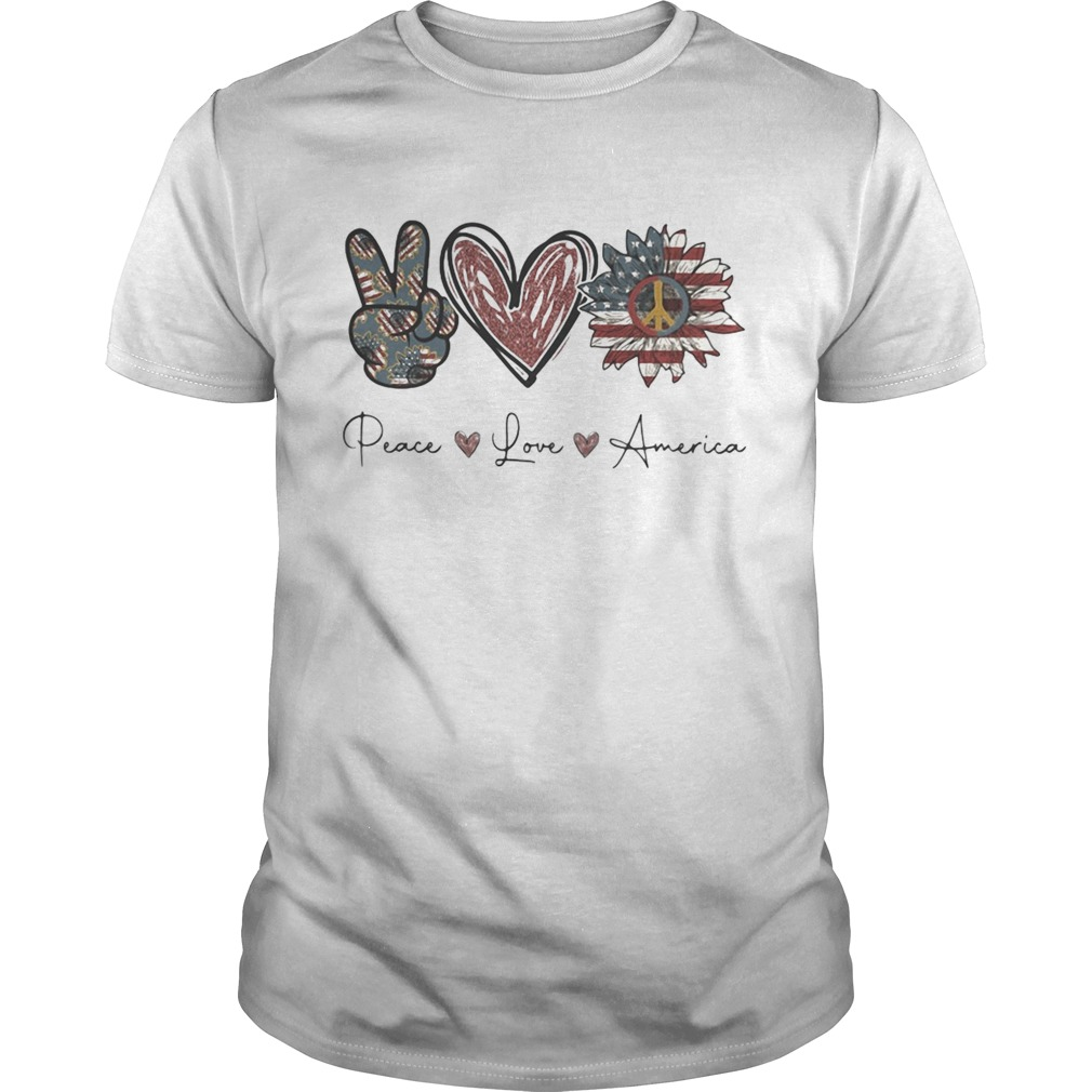 Independence Day peace love sunflower america  Unisex