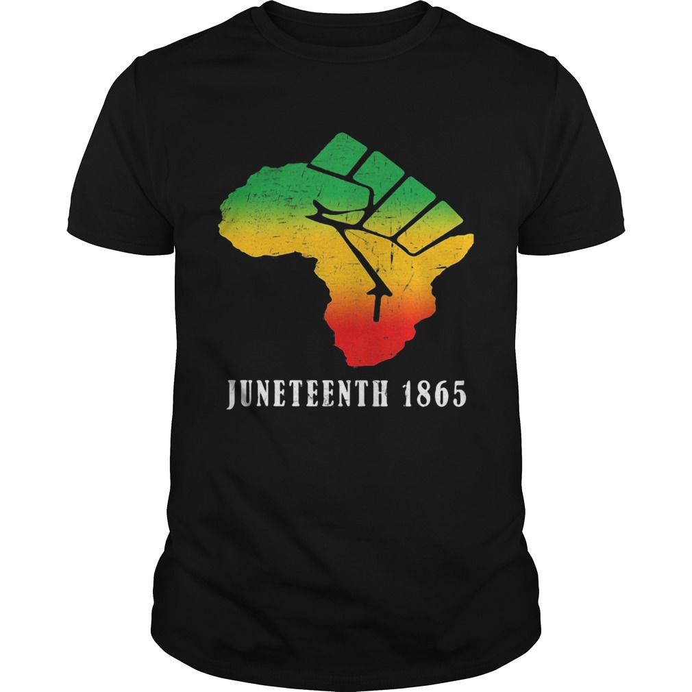 juneteenth 1865 fist  Unisex