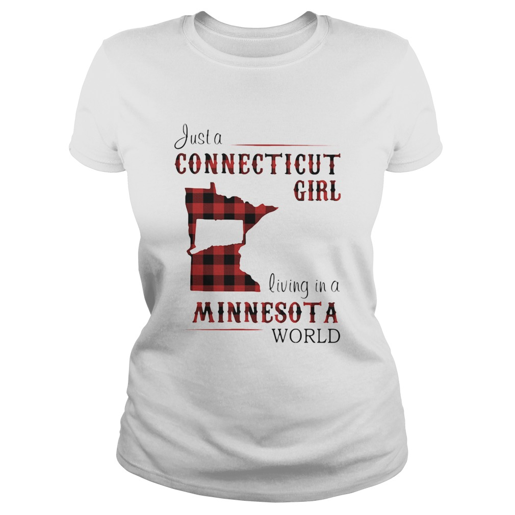 Just a connecticut girl living in a minnesota world map  Classic Ladies