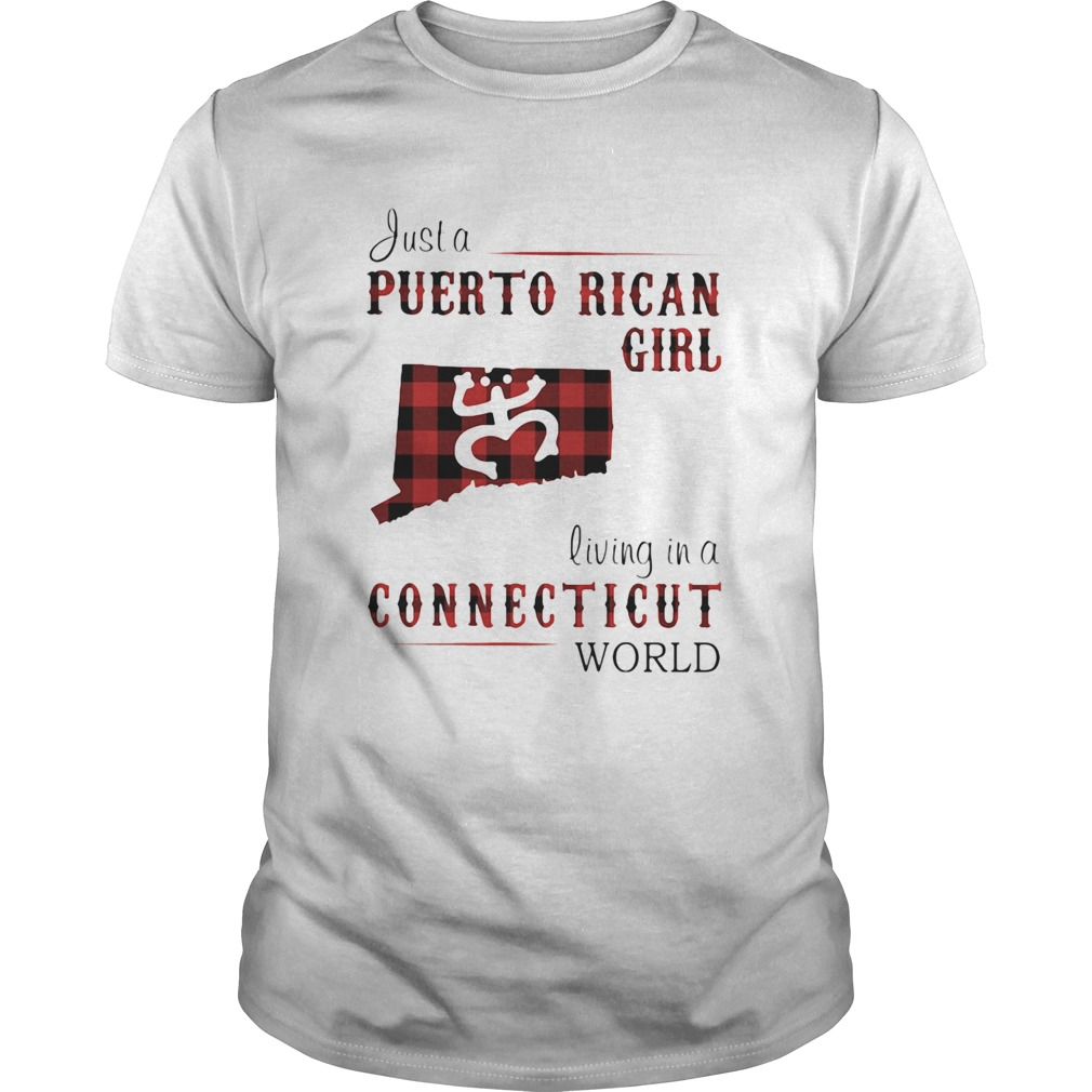 Just a puerto rican girl living in a connecticut world map  Unisex