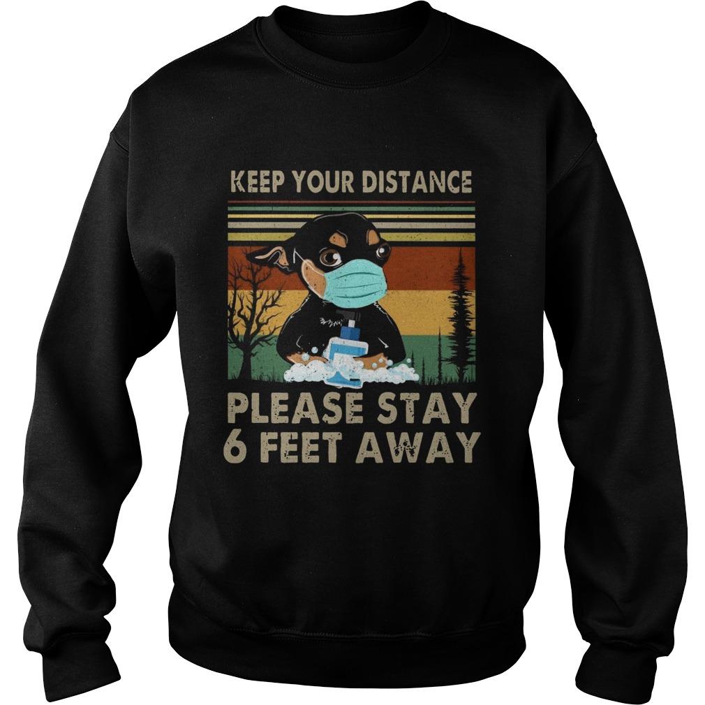 Keep Your Distance Chihuahua Vintage  Sweatshirt