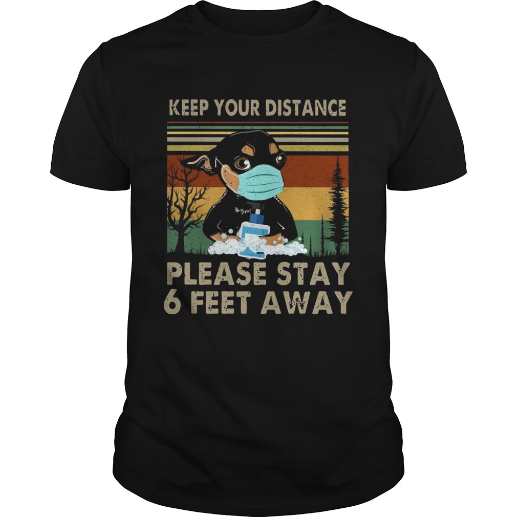 Keep Your Distance Chihuahua Vintage  Unisex