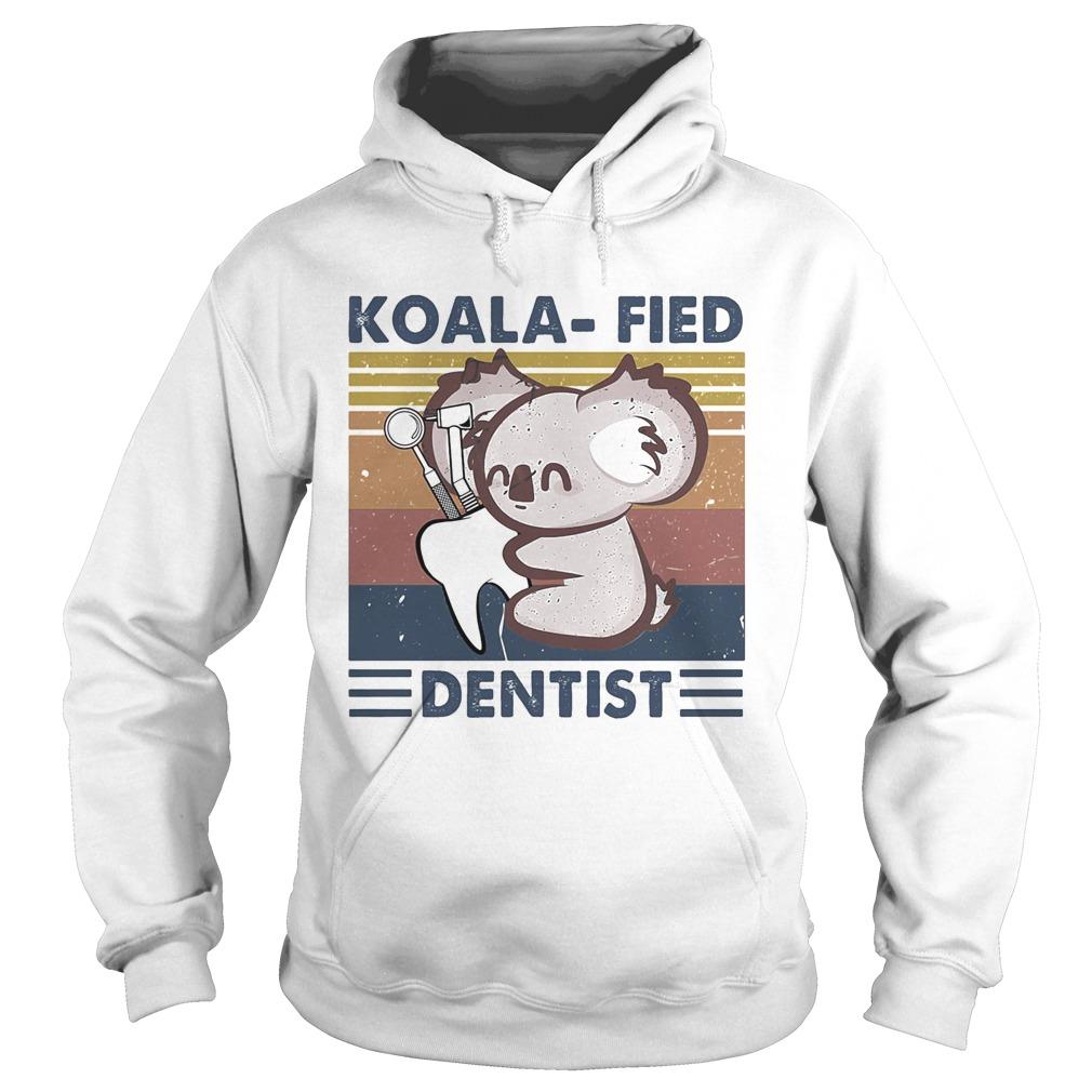 Koalafied dentist vintage retro  Hoodie