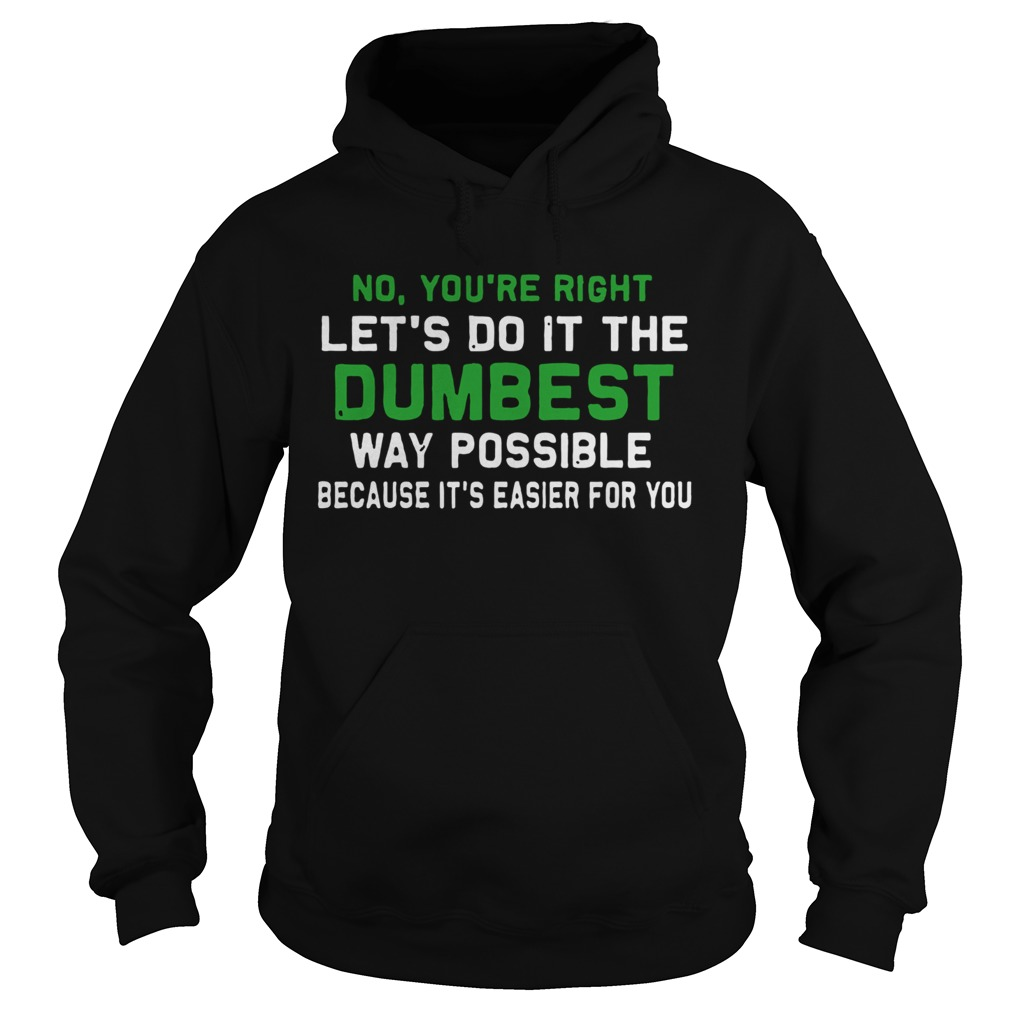 Lets Do It The Dumbest Way Possible  Hoodie