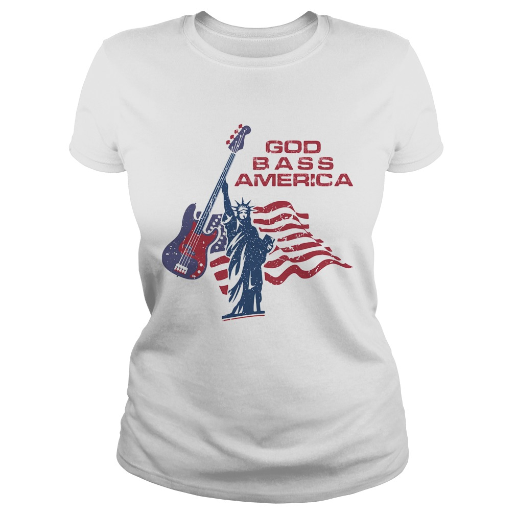 LIBERTY ENLIGHTENING THE WORLD GOD BASS AMERICA FLAG INDEPENDENCE DAY  Classic Ladies