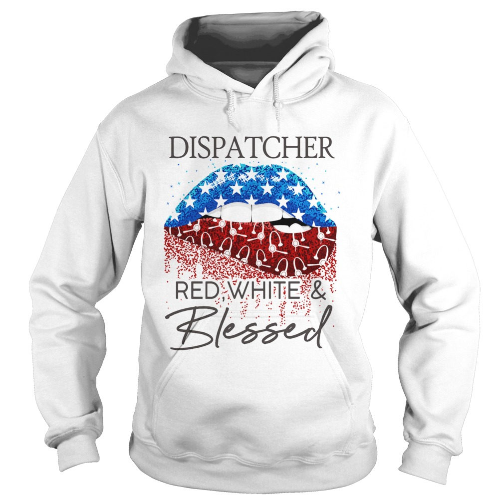Lips dispatcher red white and blessed american flag ...
