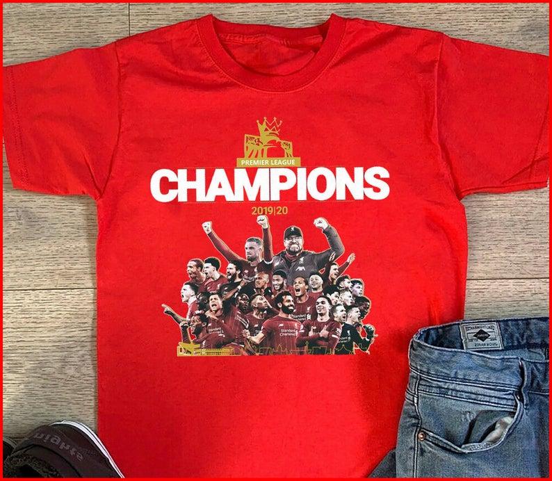 2020 Reds fan Football Fan Liverpool T-shirt Liverpool FC Never Walk Alone League Champions 2020 Reds fan Football Fan Liverpool T-shirt