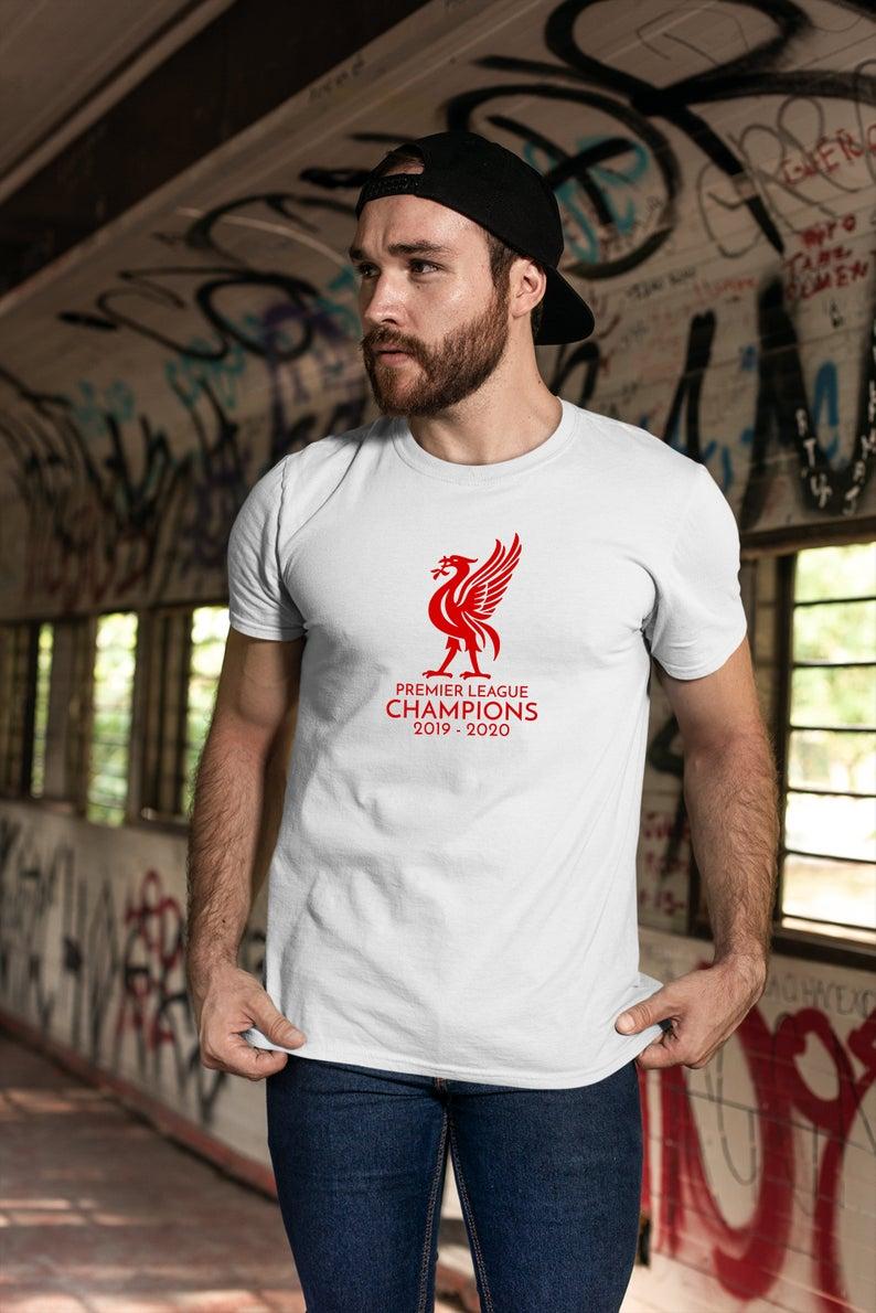 Liverpool LFC 2020 Champions Tshirt - Liverpool Unisex Tee - YNWA Liverpool Merch - Football Premier League Shirt - 2019 2020 Champions