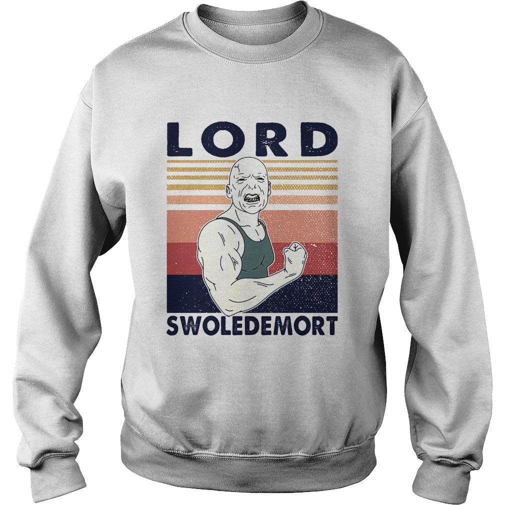 Lord swoledemort gym vintage retro  Sweatshirt