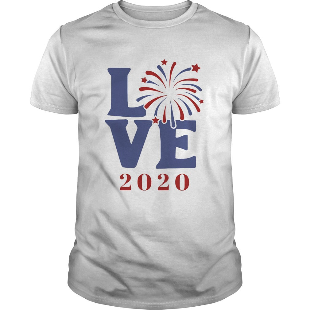 Love 2020 firework america happy 4th july independence day  Unisex