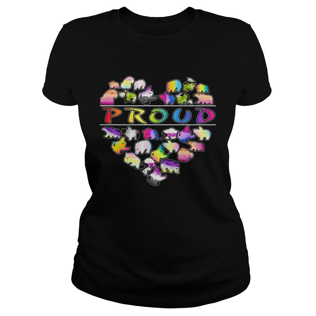 Love bear proud heart  Classic Ladies